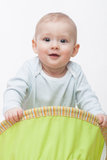 Baby boy crawls Royalty Free Stock Images