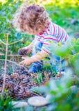Baby boy exploring outdoor Royalty Free Stock Photo