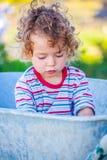 Baby boy exploring outdoor Stock Photos