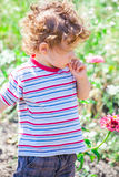 Baby boy exploring outdoor Royalty Free Stock Image