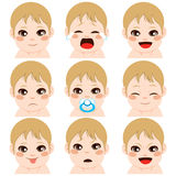 Baby Boy Expressions Royalty Free Stock Photo