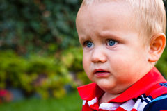 Baby boy face detail Royalty Free Stock Photography