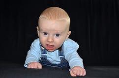 Baby boy face portrait Stock Photos