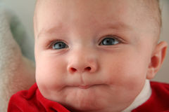 Baby Boy with Facial Expression Stock Photography