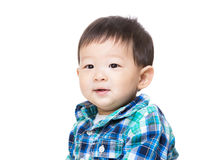 Baby boy feel curiosity Royalty Free Stock Photos