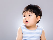 Baby boy feeling surprise Royalty Free Stock Images