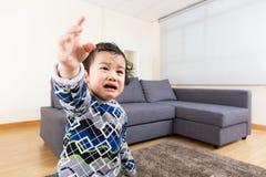 Baby boy feeling upset Royalty Free Stock Images