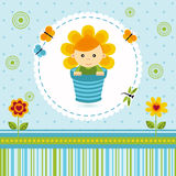 Baby boy flower Royalty Free Stock Image