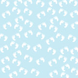 Baby Boy Footprints Seamless Pattern Royalty Free Stock Photography
