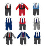 Baby boy formal Party wear with tie ,Vector illustration. Royalty Free Stock Photo