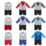 Baby boy formal wear Wedding Party with bow tie Royalty Free Stock Images