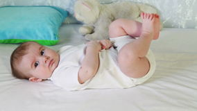 Baby boy stock footage