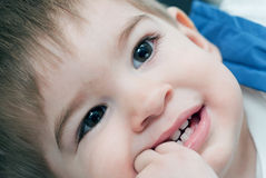 Baby boy funny face Royalty Free Stock Images