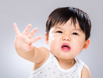 Baby boy get angry Stock Image