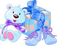 Baby boy gifts Stock Photo