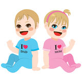 Baby Boy and Girl Stock Photography