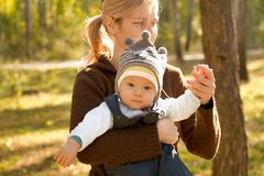 Baby Boy or Girl Have Fun Outdoors royalty free stock photo