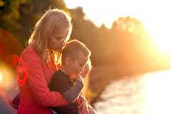 Baby Boy or Girl Have Fun Outdoors stock photography