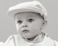 Baby Boy Golfer Hat. Baby boy in golf hat & vest Royalty Free Stock Images