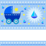 Baby boy greeting card Royalty Free Stock Image