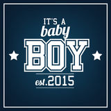 Baby Boy 2015. Greeting card royalty free illustration