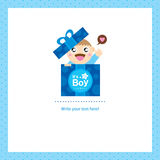 Baby Boy Greeting card design Royalty Free Stock Photography