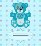 Baby boy greeting card, vector background, eps10 Stock Photos