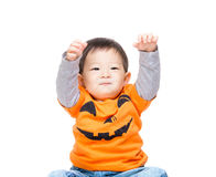 Baby boy with halloween party look Royalty Free Stock Photo
