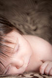 Baby Boy Happily Sleeping Royalty Free Stock Images