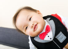 Baby boy happy. Baby boy feel so happy Royalty Free Stock Photography