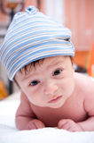 Baby boy in hat Stock Image