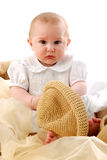 Baby boy and hat Royalty Free Stock Image