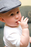 Baby boy in hat Royalty Free Stock Photography