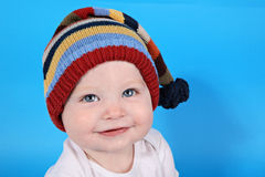 Baby boy with hat royalty free stock image