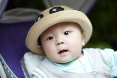Baby boy in hat Royalty Free Stock Image