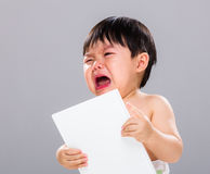 Baby boy hate book Stock Photography