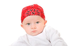 Baby Boy in Headscarf Royalty Free Stock Photo