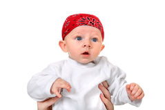 Baby Boy in Headscarf Royalty Free Stock Photos