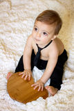 Baby boy with heart Royalty Free Stock Photo