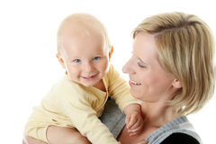 Baby boy and his mom Stock Photo