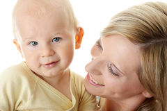 Baby boy and his mom Stock Photography