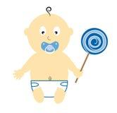 Baby Boy Holding Lollipop Royalty Free Stock Photos