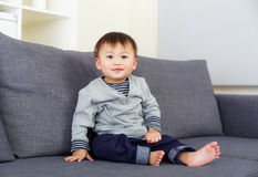 Baby boy at home Stock Photo