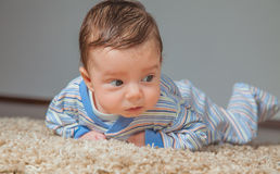 Baby boy at home Royalty Free Stock Photography