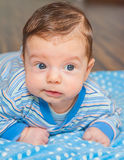 Baby boy at home Royalty Free Stock Images