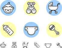Baby boy  icons Stock Photography