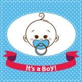 Baby boy icons isolated on white background. Stock Photo