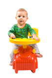 Baby-boy In A Car Royalty Free Stock Photo
