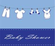 Baby Boy Invitation Stock Photography