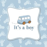 Baby boy  invitation for baby shower Stock Photo